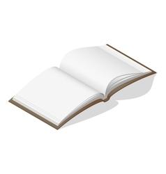 Open blank book isometric icon vector