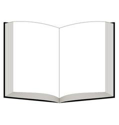 Open book mockup template book bible quran vector