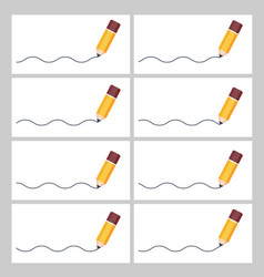 Pencil drawing wave animation sprite sheet vector