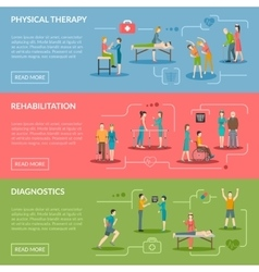 Physiotherapy Rehabilitation Banners vector