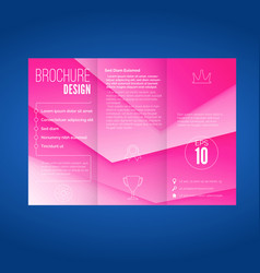 pink layered modern abstract geometric brochure vector image