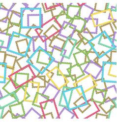 postage stamps frames pattern vector image