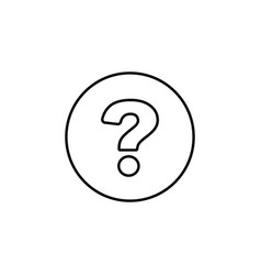 question mark line icon black on white background vector image