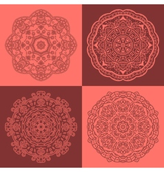 Round oriental ornaments vector
