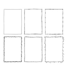 Set sketchy ornamental frames cartoon hand vector