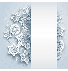 Snow winter background vector