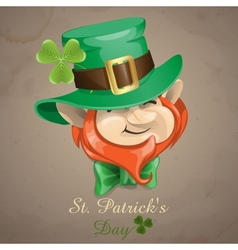 St Patricks Day Leprechaun Face vector