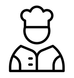 student job cooker icon outline style vector image