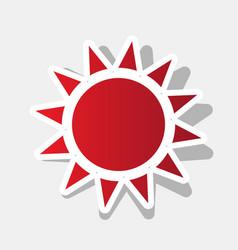 sun sign new year reddish vector image
