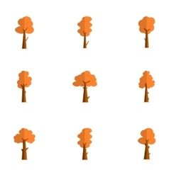 Tree set for decoration vector
