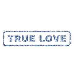 True love textile stamp vector