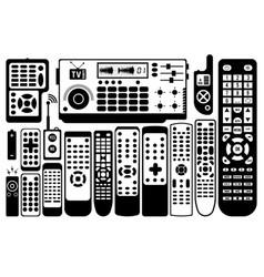 Tv remote control vector
