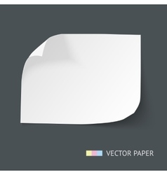 White paper sheet with curved corners vector