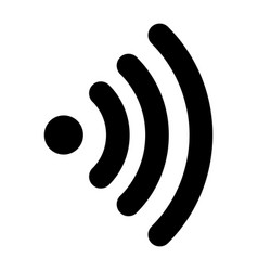 wifi icon outline style vector image
