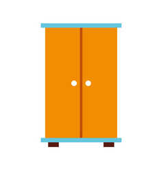 Wooden closet isolated icon vector