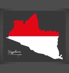 yogyakarta indonesia map with indonesian national vector image vector image