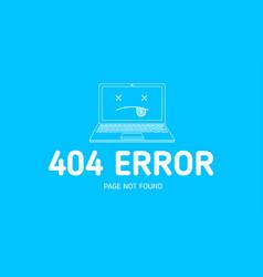 404 error with icon notebook error vector image