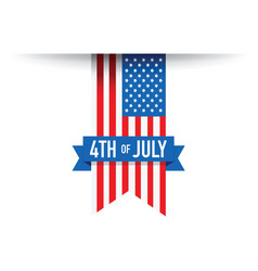 4th of july usa flag vector image vector image
