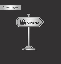 black and white style icon cinema sign vector image