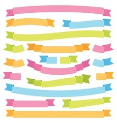 bright ribbons vector image