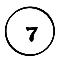 Cartoon image of pool ball icon billiard symbol vector