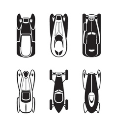 Classic and retro cars from above vector image vector image