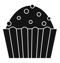 cup cake icon simple style vector image