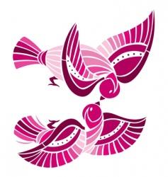 playful birds vector image vector image