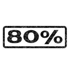 80 percent watermark stamp vector image vector image