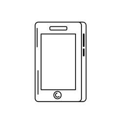line smartphone technology communication to call vector image vector image