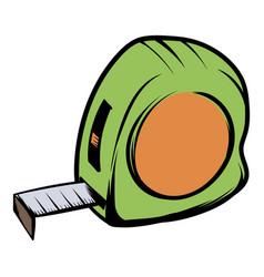 tape measure icon cartoon vector image