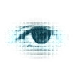abstract halftone digital eye vector image