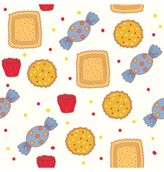 Candies and cookies vector