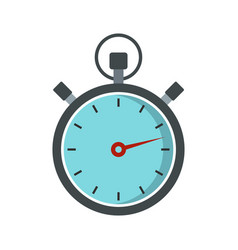 gray stopwatch icon flat style vector image