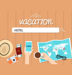 hotel search graphic for vacation vector image vector image