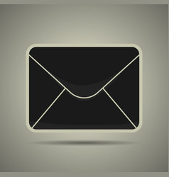 message icon black and white vector image vector image