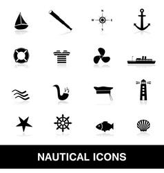 nautical icons eps10 vector image
