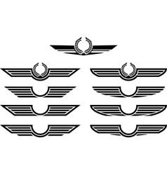 set of insignias stencils vector image vector image