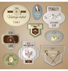 Gentleman Labels Set vector image vector image