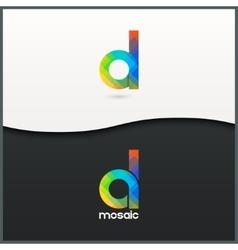 letter D logo alphabet mosaic icon set background vector image vector image