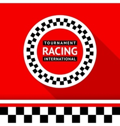 Racing badge 06 vector image