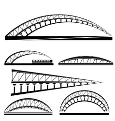 Set of Bridge Icons Isolated vector image