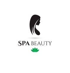 Spa and Beauty company logo vector image