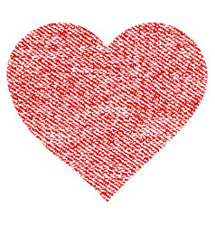 valentine heart fabric textured icon vector image vector image