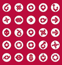 Abstract unusual icons set creative symbols vector image