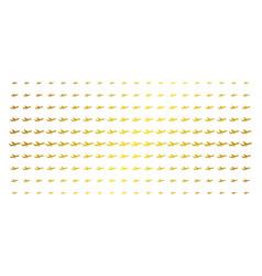 Aiplane golden halftone matrix vector