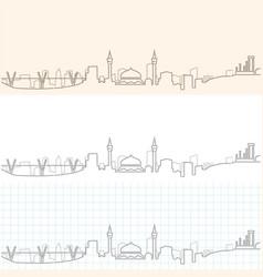 Amman hand drawn skyline vector