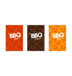 barbecue party invitation template vector image
