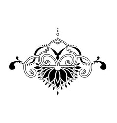 baroque ornament in victorian style vector image