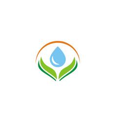 bio waterdrop logo vector image